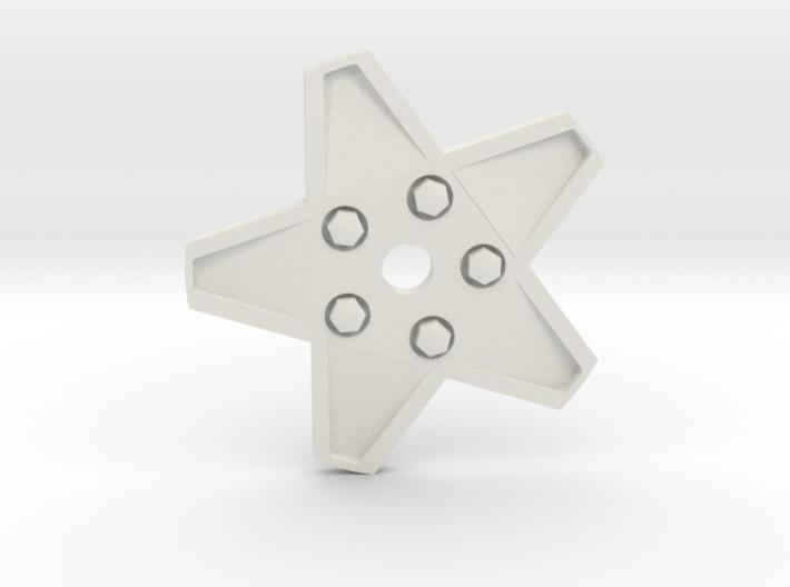 XMAS STAR 328 WHEEL 80 MM 3d printed