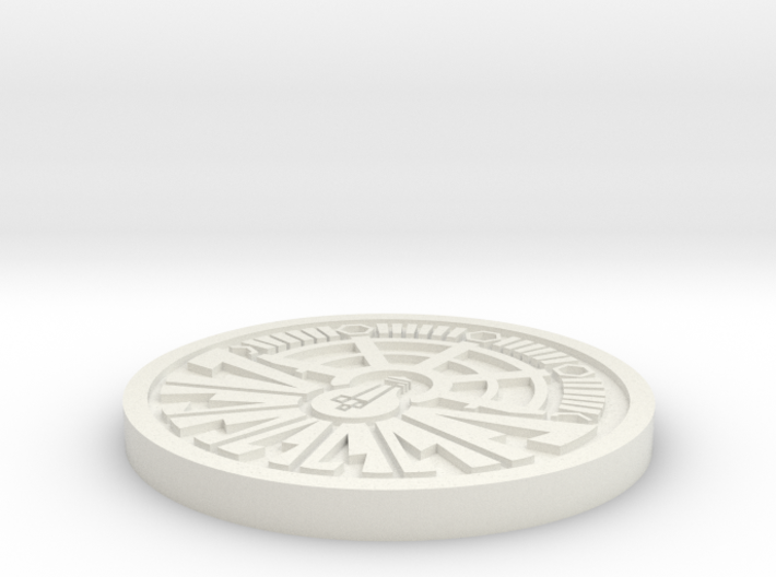 City of Ember Coin 2.5mm thick 0.5mm engraving 3d printed