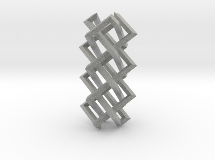 Right-angled Braidwork II (loose variant) 3d printed
