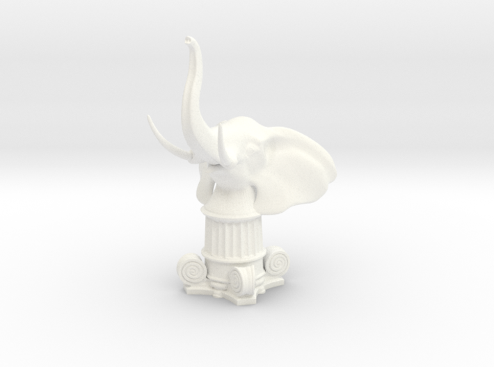 Elephant Rook (Square Base) 3d printed