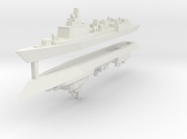 051B PLAN Destroyer 1:3000 x2 3d printed