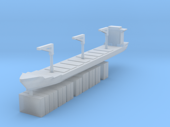 Xiamen Ship w/ Containers 1:2400 3d printed