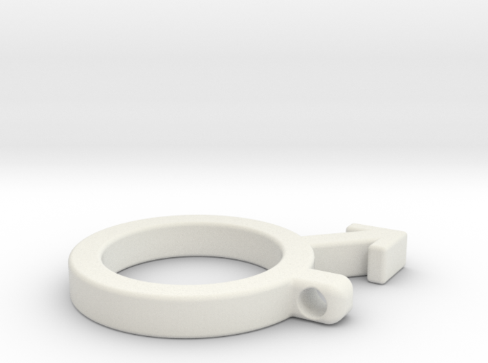 Men symbol pendant 3d printed