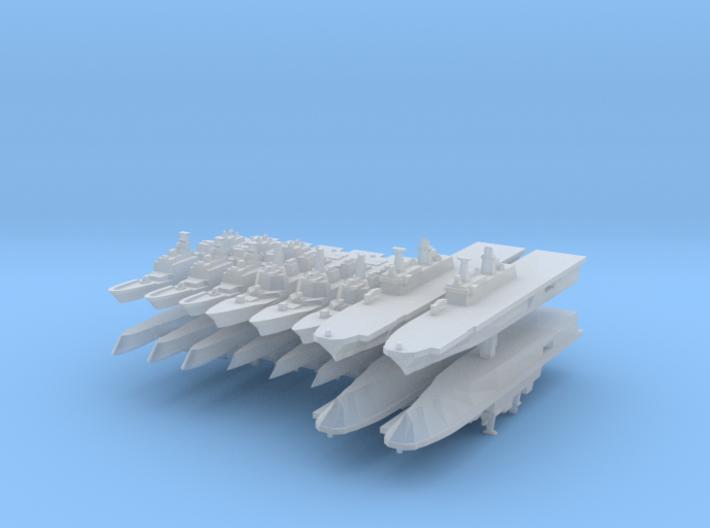 Korean Navy Fleet Pack 1:6000 (16 ships) 3d printed