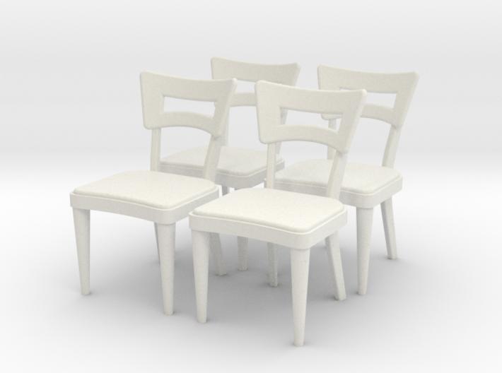 1:36 Dog Bone Chairs (Set of 4) 3d printed