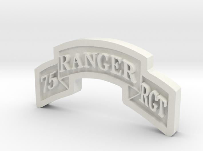 Ranger Scroll (75th Ranger RGMT) 3d printed