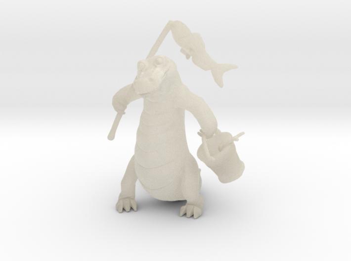 Gator Gone Fishing (color) 3d printed