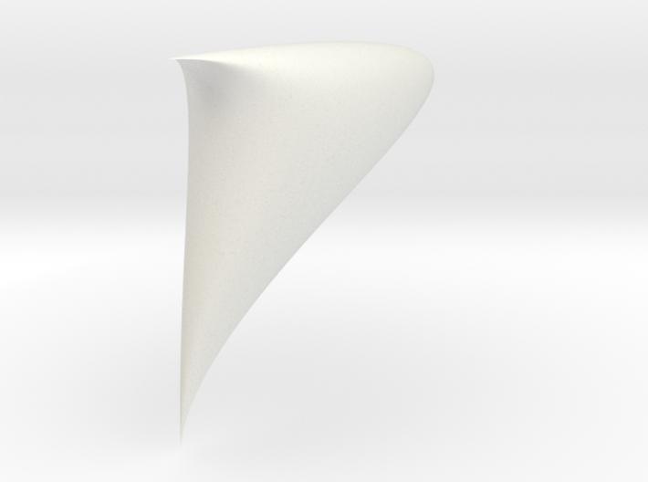 Piriform drop sinoid 1/4 3d printed