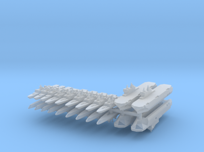 French Fleet 3 1:4800 (20 Ships) 3d printed