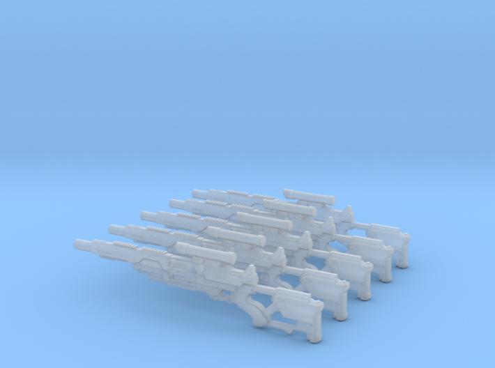 Mk1 - Kiran Pattern Gyrojet Riffle (x5) 3d printed