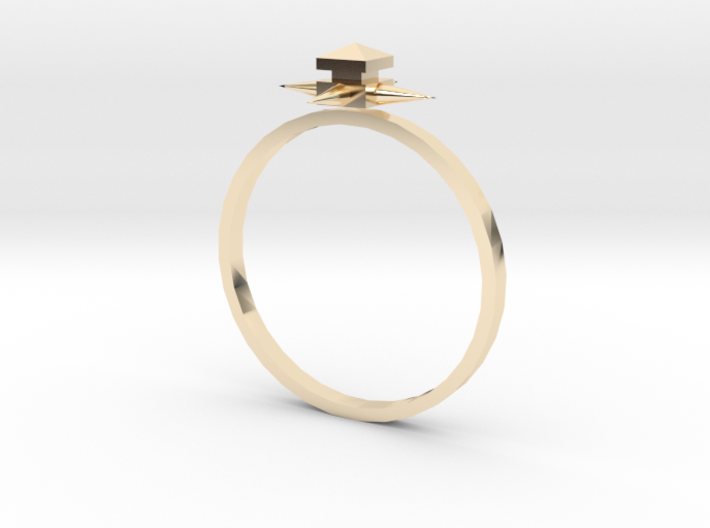 Temple Ring - Sz. 9 3d printed