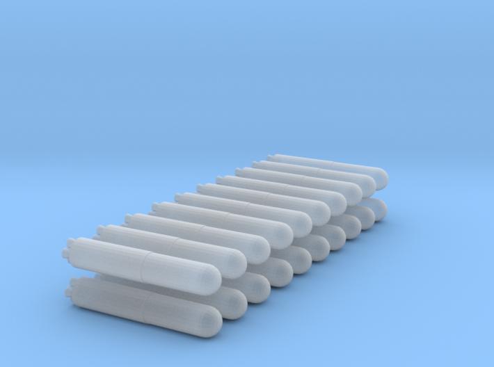 20 Simple Missiles 3d printed