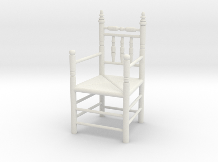 1:24 Pilgrim's Chair with arms 3d printed