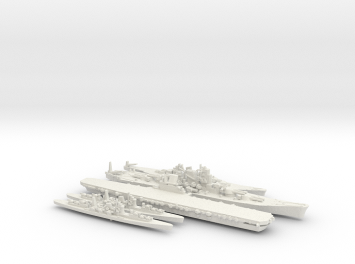 1/2400 Scale Never Were IJN Fleet 3d printed