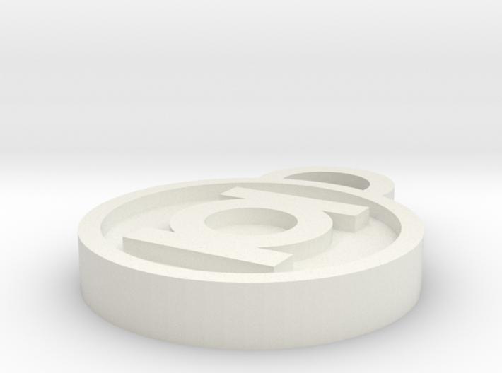 Green Lantern Keychain 3d printed