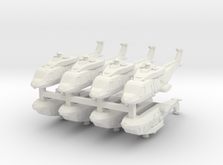 Eurocopter NH90 1:600 x8 (WSF) 3d printed