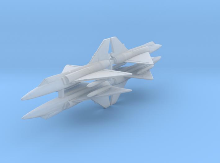 F-106 1:700 x4 3d printed