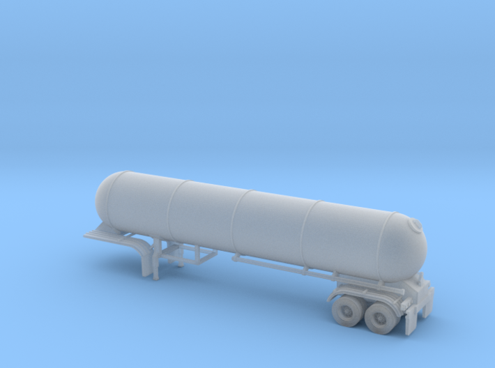 N scale 1/160 LPG 45' twin-axle tanker, trailer 15 3d printed