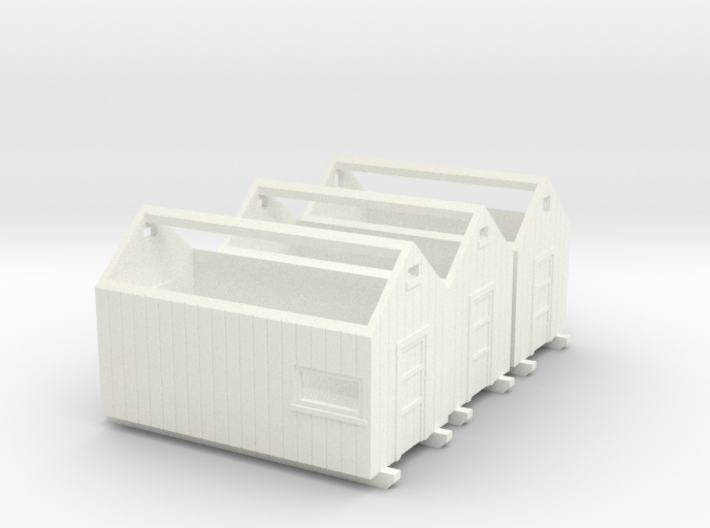 H0 logging - Storage Sheds (3pcs) 3d printed