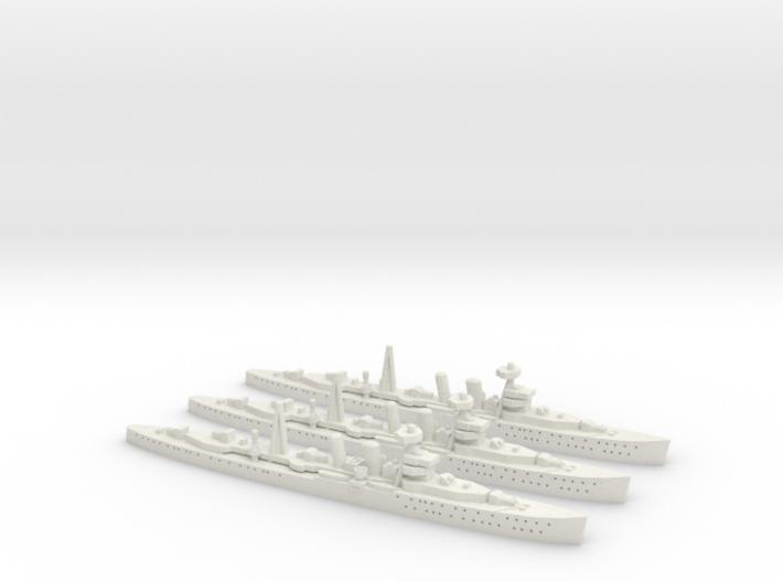 HMS Cairo (C class) 1:1800 x3 3d printed