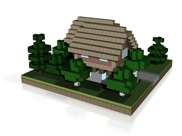 30x30 House01 (mix trees) (1mm series) 3d printed
