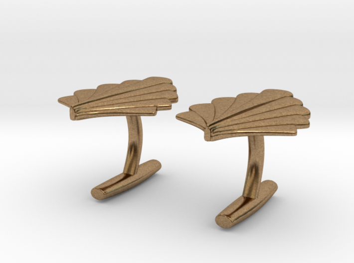 Art Deco Palm Cufflinks 3d printed
