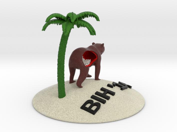 Bear Palm Final Thickenedpalm 3d printed
