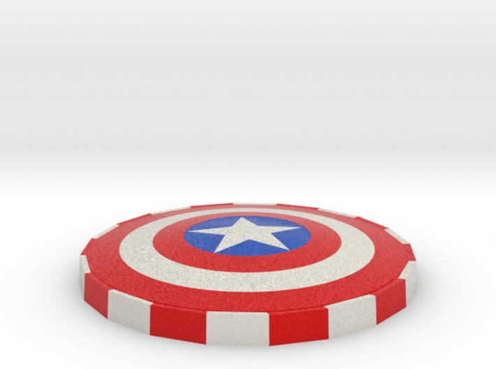 Cap Shield Poker Card Cover. 3d printed