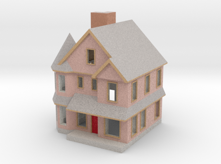 Queen Anne House - 1:300 scale 3d printed