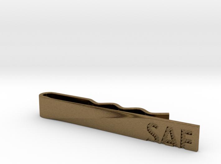 """""""SAF"""" Tie Bar 3d printed"""
