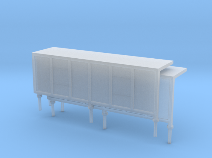 JCDecaux Shelter (long) 1:148 N Gauge 3d printed