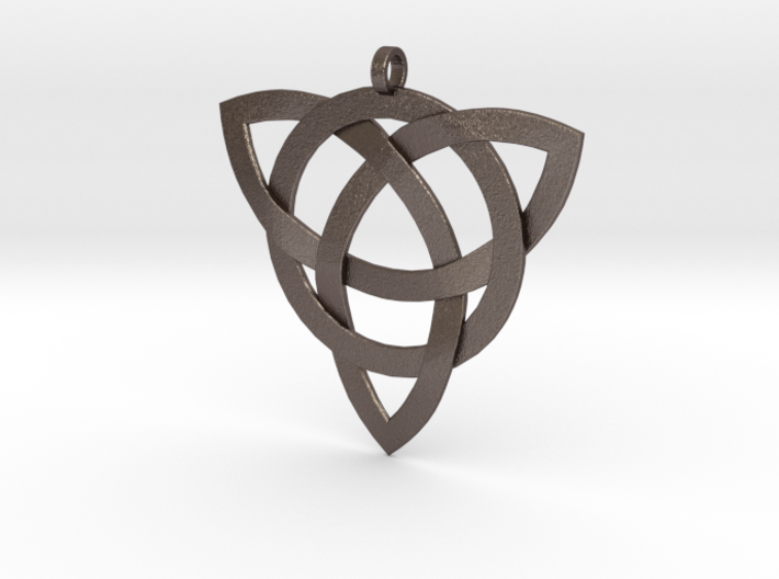 Large Celtic Knot Pendant (Inverted Triquetra) 3d printed