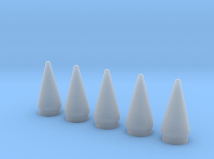 Delta II Rocket SRB Nose 1:96-Set of 5 3d printed