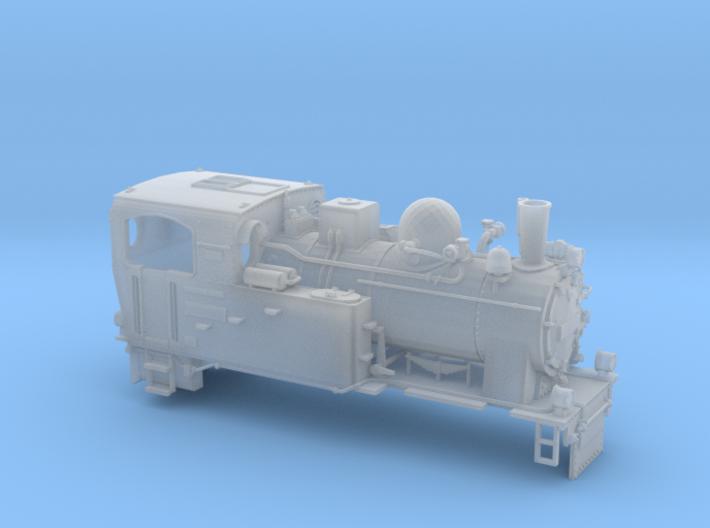 Schmalspurdampflok BR 996101 in TTm (1:120) 3d printed