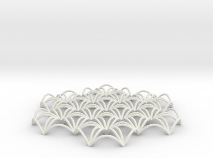 "Flower Of Life Spline 6"" pendant 3d printed"