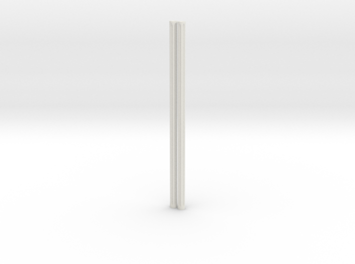 4mm Fluted Rod 99mm long X2 3d printed