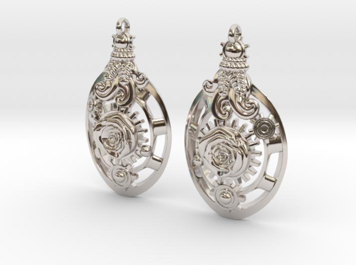 Botanika Mechanicum Earrings 3d printed