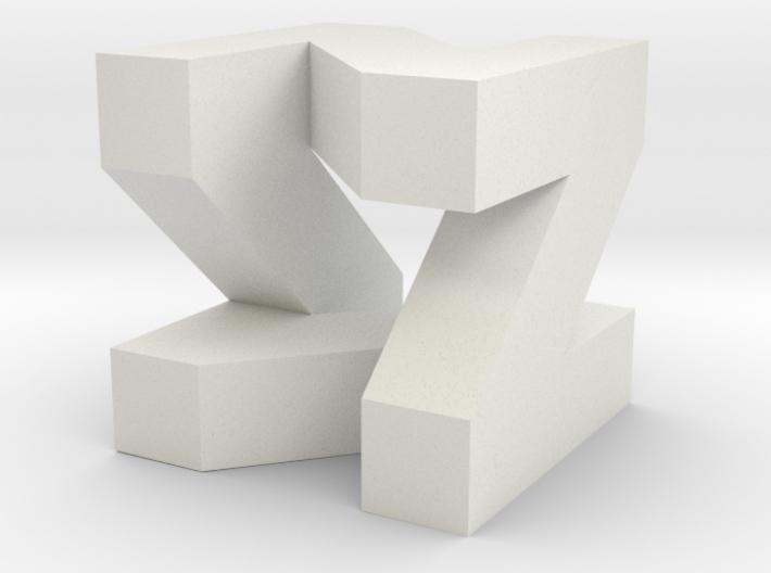 N square 3d printed