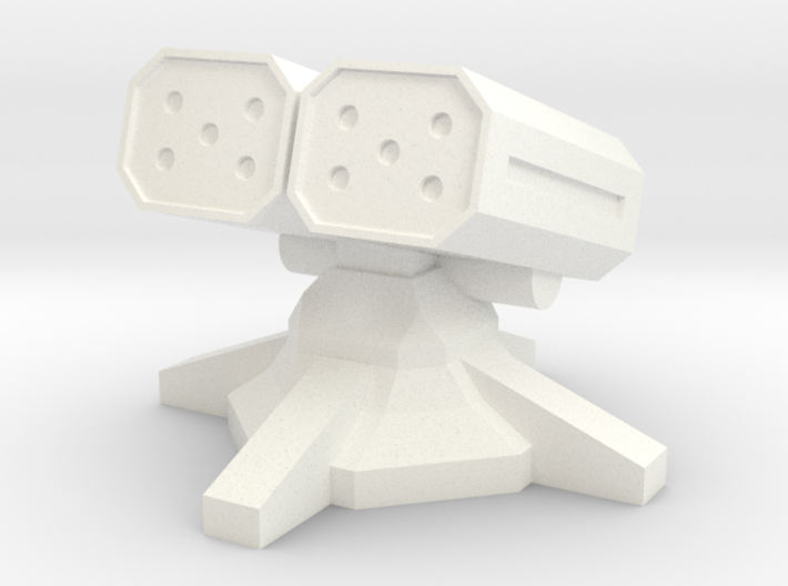 Twin Missile Turret (1/160) 3d printed