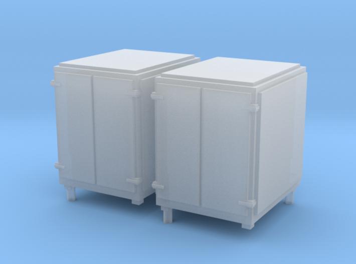 1:96 Standard Large Ammo Box - Set of 2 3d printed