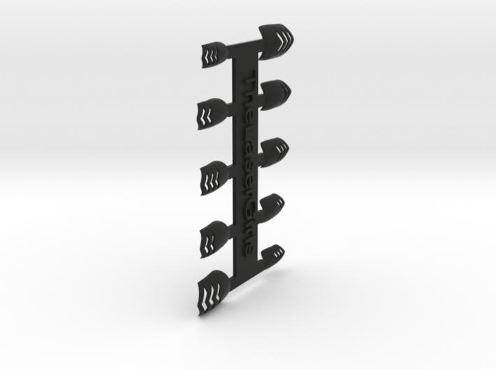 Chevron Nails (Size 4) 3d printed