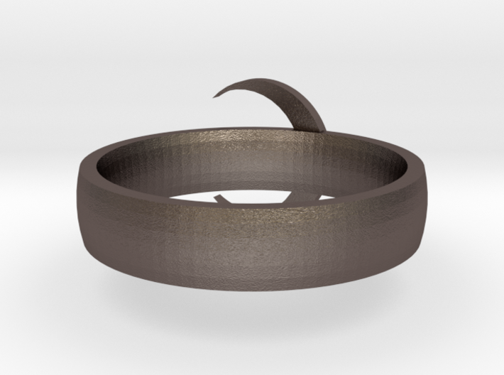 Moon Ring STL 3d printed