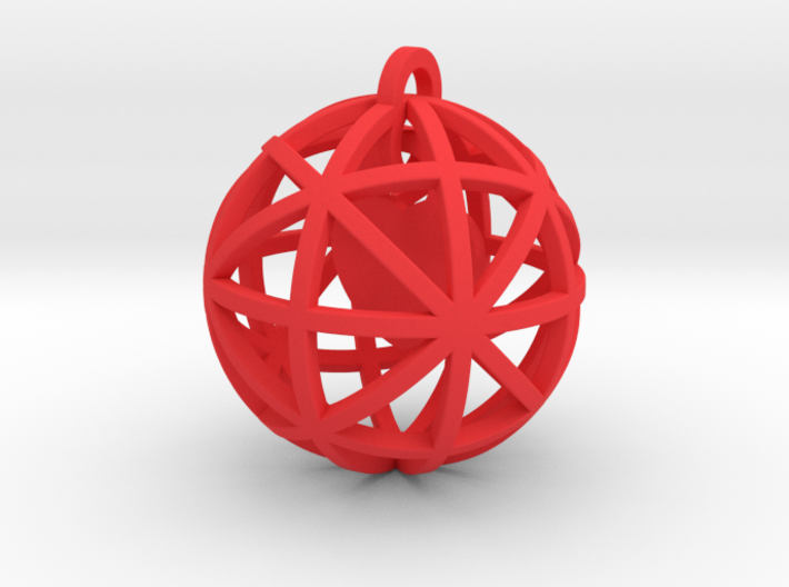 Pendant Heart In A Sphere 3d printed