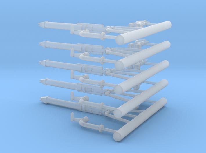 Schaum-Wasserwerfer 3tlg-5Stck 3d printed