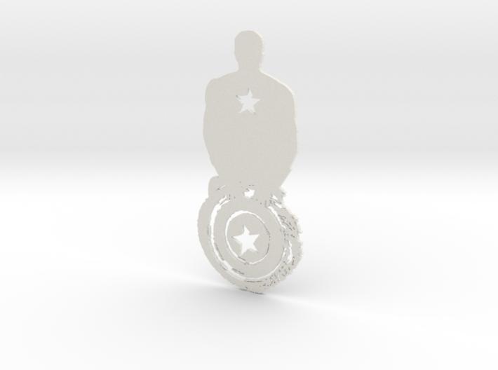 Captain America artwork 3d printed