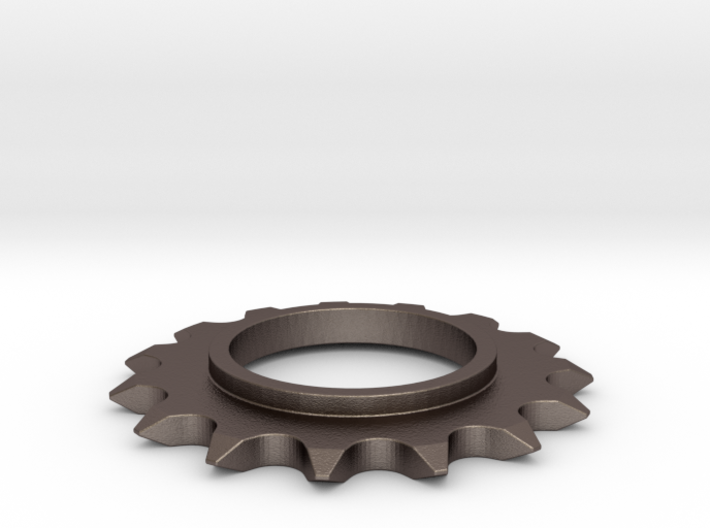 24mm Bicycle Track Sprocket Pendant 15t 3d printed