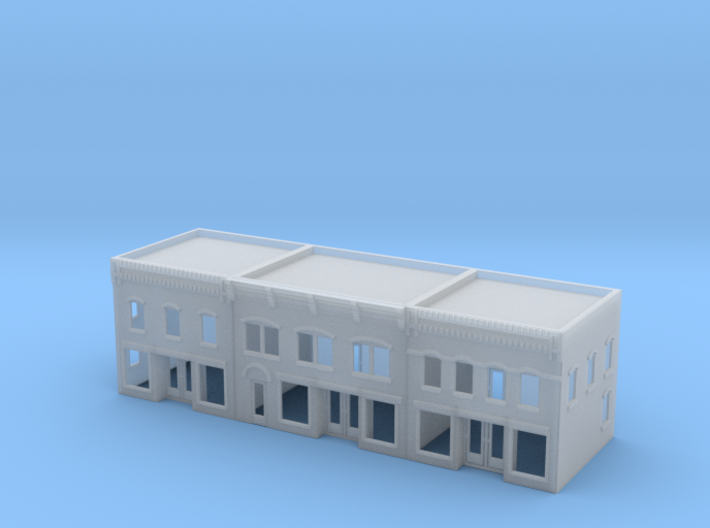 Three City Buildings 3d printed
