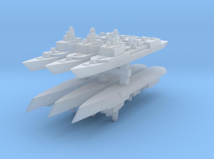 051B & 051C PLAN Destroyers 1:4800 x6 3d printed