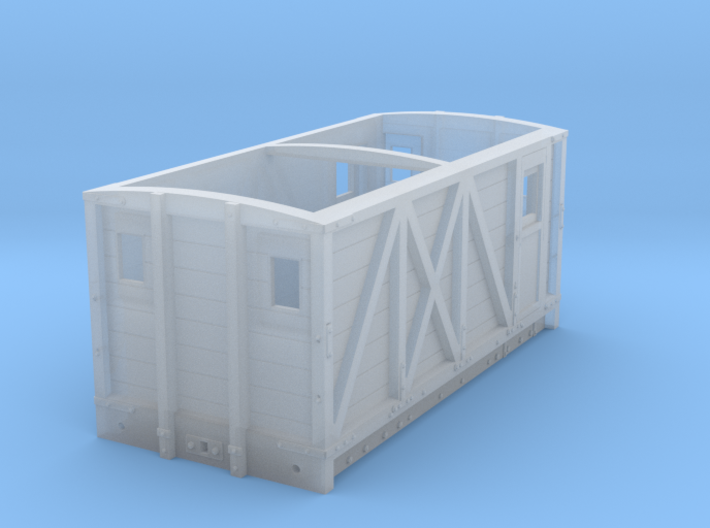 NSR 10ton Breakdown Train Brake Van body – 4mm sca 3d printed