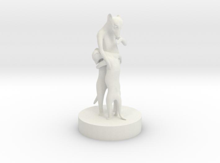 Meer Kat Embrace 3d printed